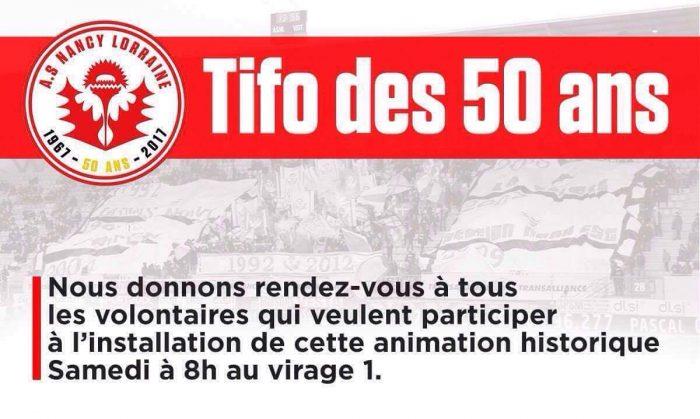 Organisation tifo des 50 ans